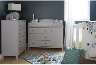 Cotton Candy South Shore Changing Table and 4 Drawers Chest