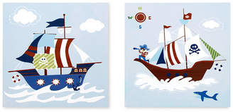 Jla Home Mi Zone Kids Ahoy Matey 2-Pc. Printed Dimensional Box Wall Art Set