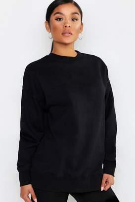 boohoo Basic Oversized Raw Seam Detail Sweat Shirt