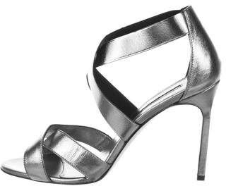 Manolo Blahnik Leather Crossover Sandals