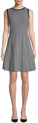 Saks Fifth Avenue BLACK Women's Pattern Fit-&-Flare Dress
