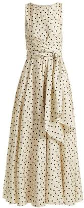 Diane von Furstenberg Polka Dot Silk Dress - Womens - Cream Print