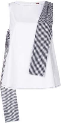 I'M Isola Marras gingham panel sleeveless blouse
