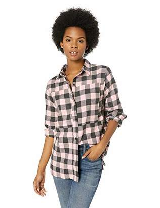 Hurley Junior's Plaid Collared Long Sleeve Button Down Shirt