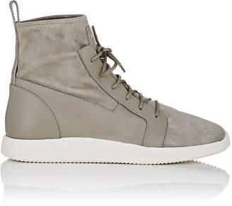 Giuseppe Zanotti Men's Stretch-Suede Sneakers