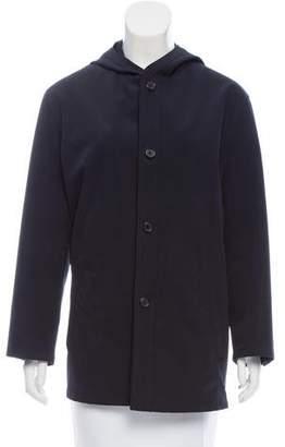 Prada Hooded Button-Up Jacket