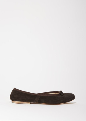 Porselli Suede Ballet Flat $245 thestylecure.com