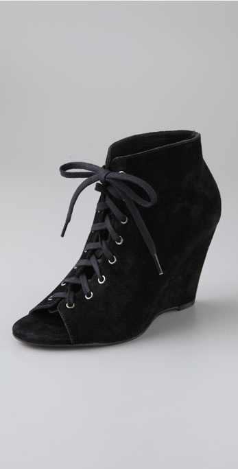 Joie I Will Survive Suede Lace Up Booties