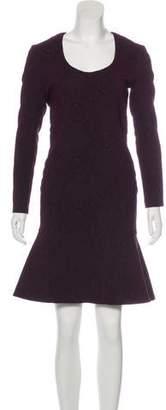 Yigal Azrouel Long Sleeve Knee-Length Dress