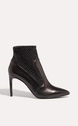 Karen Millen Textured Leather Ankle Boots