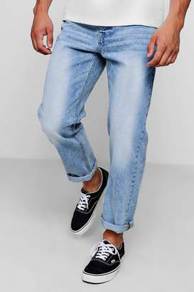 boohoo Loose Fit Ankle Grazer Washed Jean