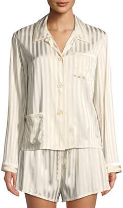 Morgan Lane Ruthie Marle-Striped Pajama Top