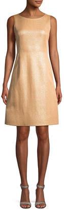 Akris Solid Crewneck Shift Dress