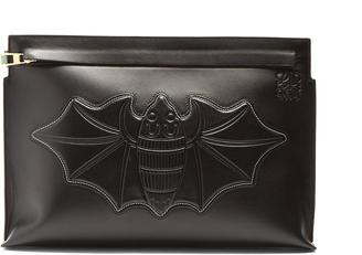 Bat T leather pouch