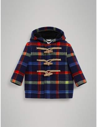 Burberry Childrens Check Double-faced Wool Duffle Coat