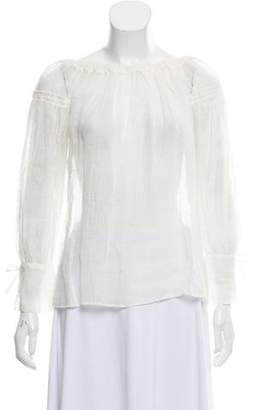Alberta Ferretti Long Sleeve Woven Top