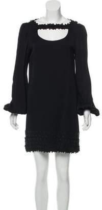 Giamba Long Sleeve Mini Dress Black Long Sleeve Mini Dress
