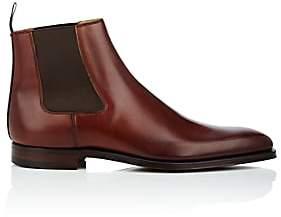 Crockett Jones Crockett & Jones Men's Lingfield Burnished Leather Chelsea Boots-Brown