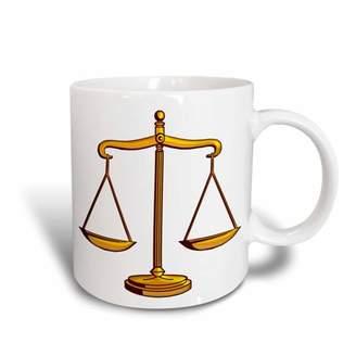 Justice 3dRose Scale of Symbol (gold), Ceramic Mug, 11-ounce