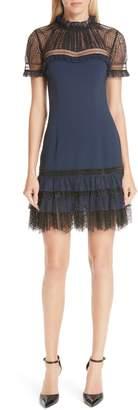 Jonathan Simkhai Tulle Lace Trim Sheath Dress