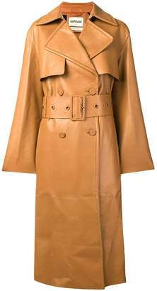 Roberto Cavalli silk-lined trench with fringe