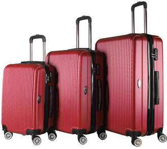 Brio Luggage Hardside Spinner Luggage Set (Set of 3)