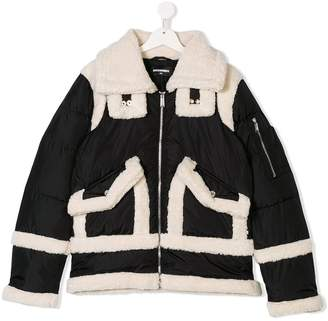 DSQUARED2 TEEN faux shearling jacket