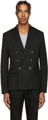 Pierre Balmain Black Double-Breasted Blazer $1,675 thestylecure.com