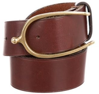 Ralph Lauren Wishbone Leather Belt $175 thestylecure.com