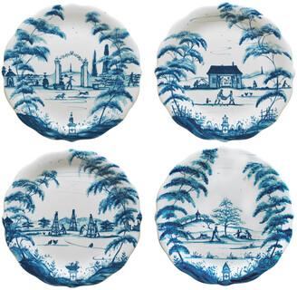 Juliska Country Estate Delft Blue Party Plates, 4-Piece Set