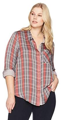 Lucky Brand Women's Plaid Plus-Size Shirt in