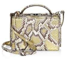 Mark Cross Grace Metallic Python Shoulder Bag