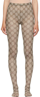 Gucci Brown GG Supreme Tights