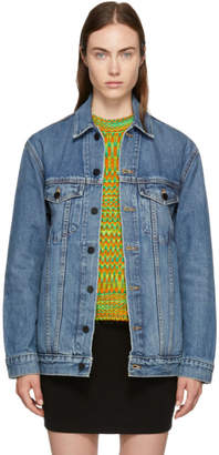 Alexander Wang Indigo Oversized Denim Daze Jacket