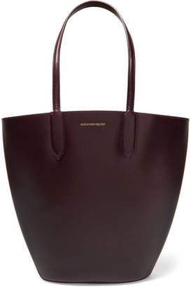 Alexander McQueen Basket Leather Tote - Burgundy