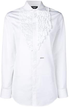 DSQUARED2 ruffle-embroidered shirt