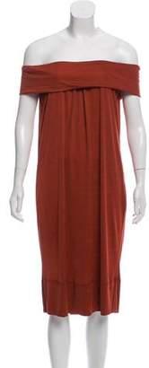 Byblos Off-The-Shoulder Midi Dress