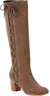 Sole Society Suede Lace Up Boots - Arabella