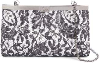 Christian Louboutin Palmette Lace Overlay Frame Clutch