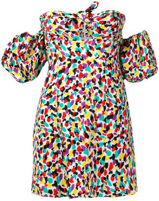ATTICO printed bardot blouse
