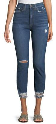 Alice + Olivia AO.LA by Alice+Olivia Good High-Rise Destroyed Skinny Jeans