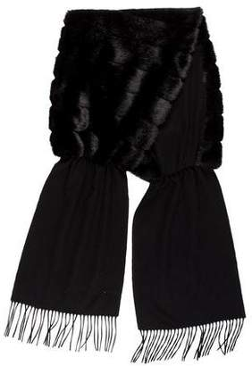 Cassin Sherry Faux Fur Fringe Scarf