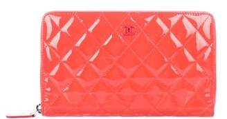 Chanel L-Large Quilted Zip Wallet