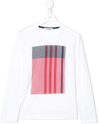 Familiar checked print T-shirt