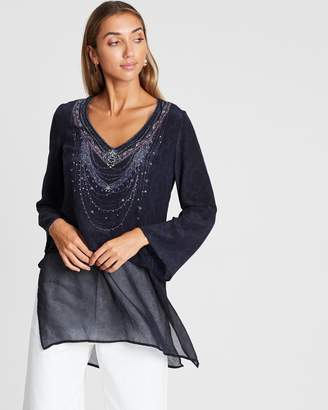 Camilla Blouse with Side Splits