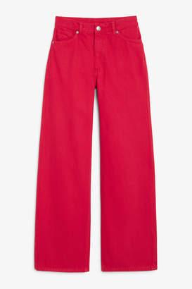 Monki Yoko red jeans