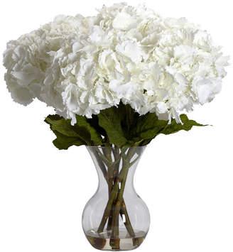 Asstd National Brand Nearly Natural Large Hydrangea Silk Flower Arrangement with Vase