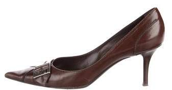 Christian Dior Pointed-Toe Leather Pumps
