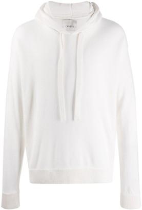 Laneus long sleeve knitted hoodie