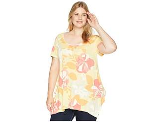 Fresh Produce Extra Fresh by Plus Size Fresh Blossom Vintage Drape Tee